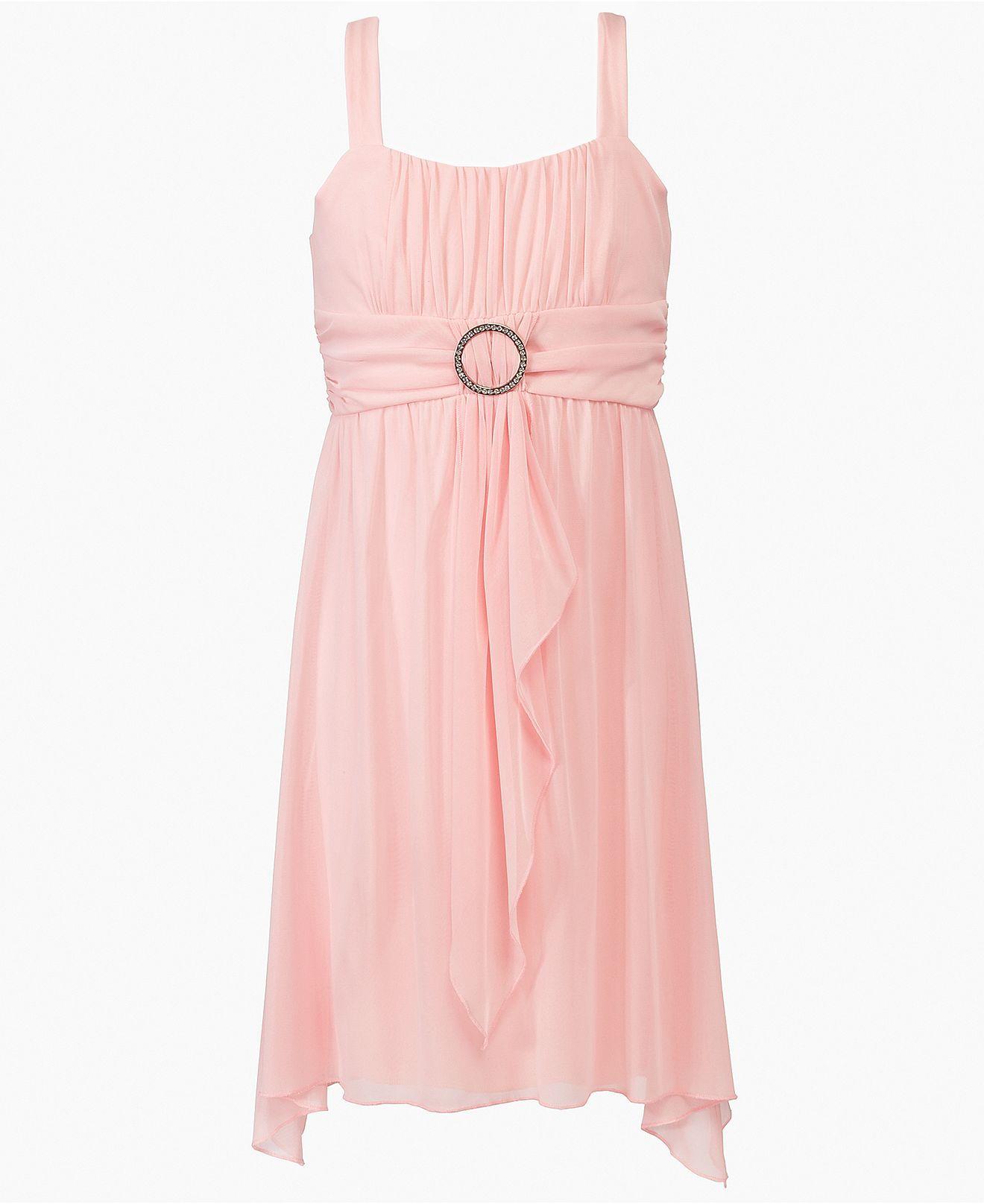 Ruby Rox Girls Dress, Girls Sheer Matte Ruffle Dress - Kids Girls ...