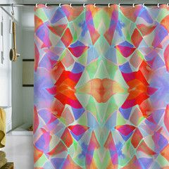 awesome art inspired shower curtains-Amy Sia Chroma Orange Shower Curtain