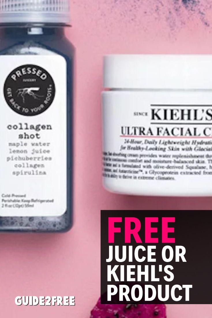 FREE Pressed Juicery Juice, Kiehl's Facial Cream or Lip