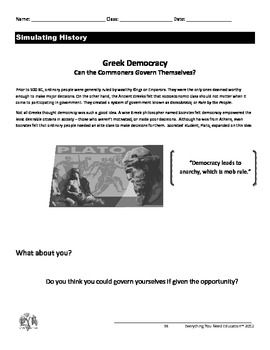 Ancient greece lesson direct democracy simulation ancient greece ancient greece lesson direct democracy simulation fandeluxe Images