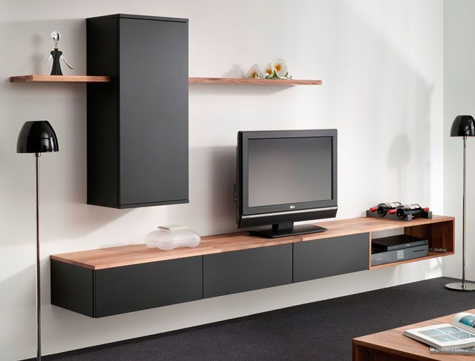 Bruin Zwarte Tv Kast.Interstar Woonwand 211 01 Tv Furniture Living Room Tv Living