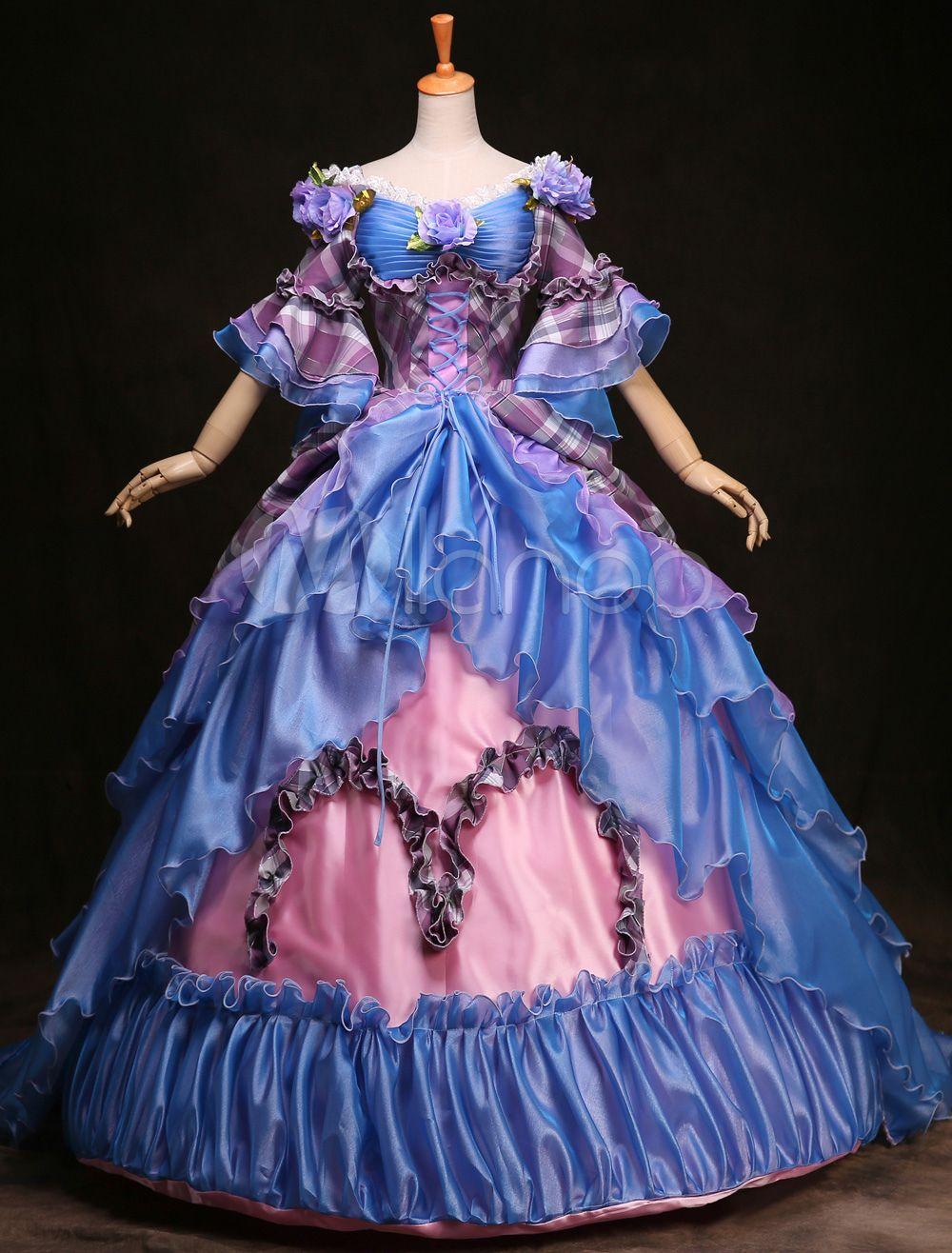 Halloween Victorian Ballroom Blue Dress Anime | www.picturesboss.com