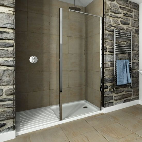 Recess Walk-In 1400 x 900mm Acrylic Shower Tray With 900 Glass ...
