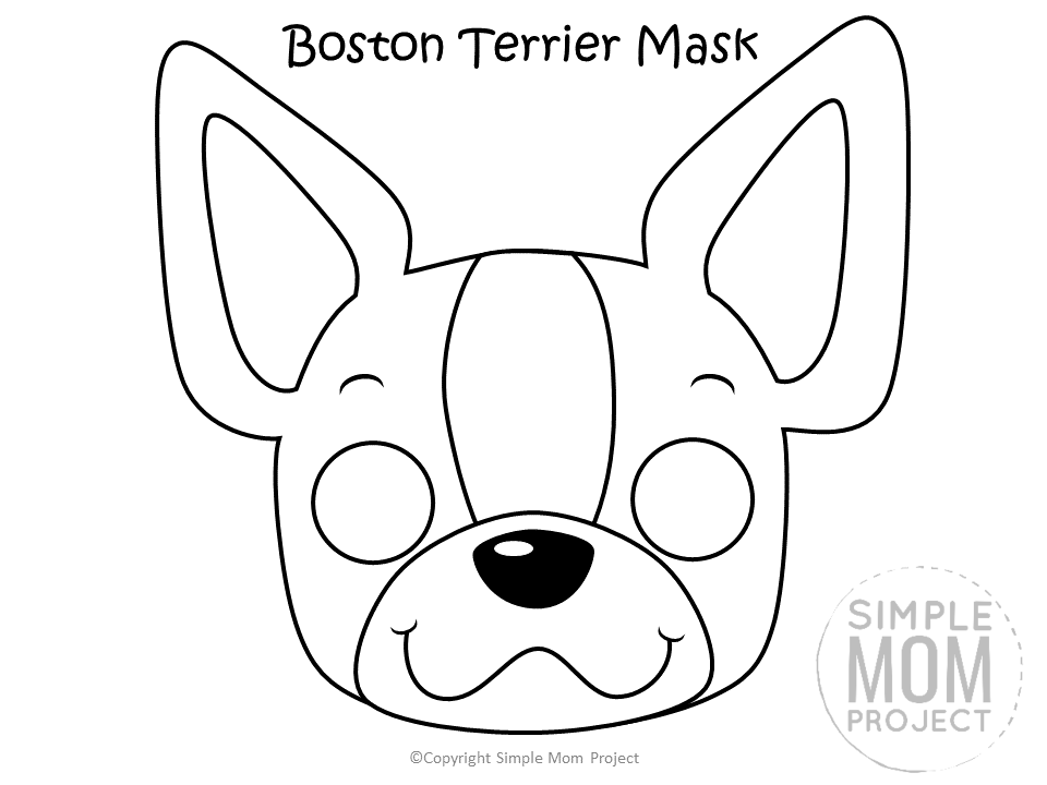 Dog Face Mask Templates Simple Mom Project Puppy Coloring Pages Dog Template Dog Mask