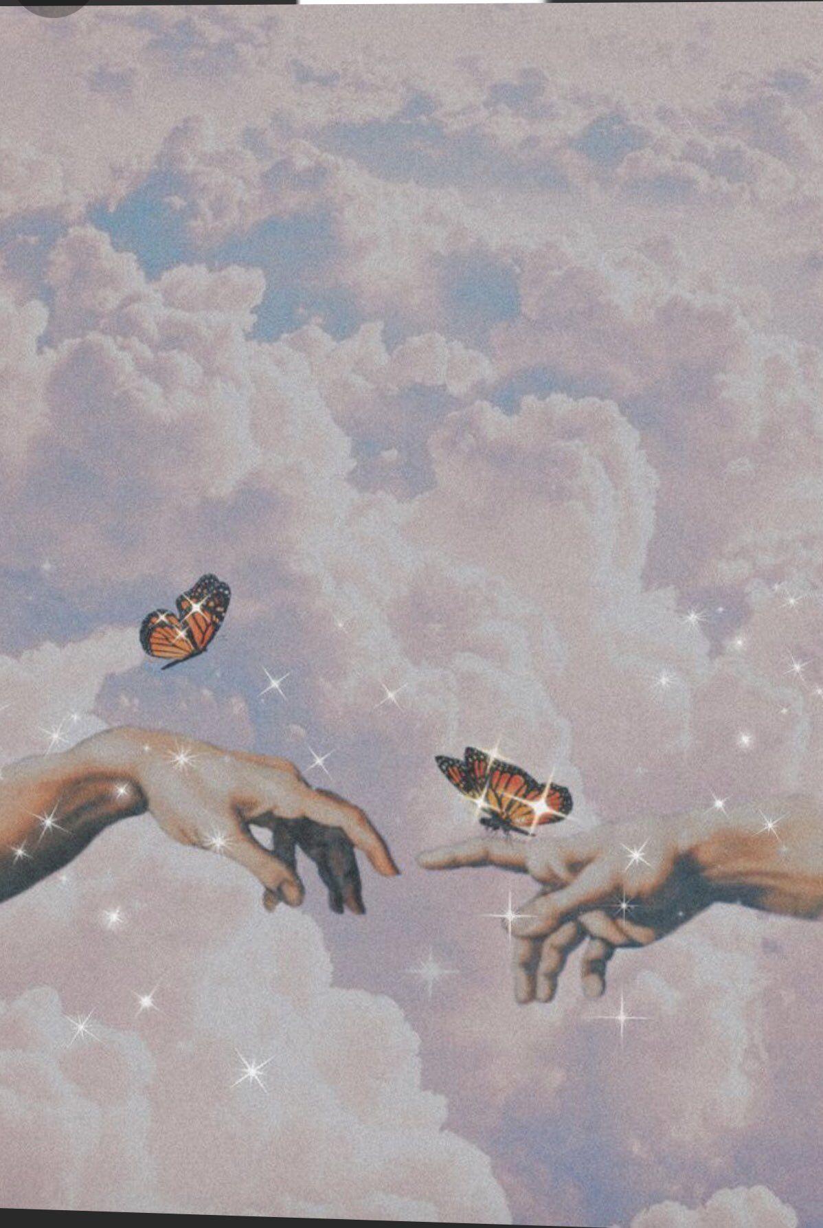 𝘎𝘢𝘭𝘭𝘦𝘳𝘪𝘢 𝘎𝘢𝘳𝘪𝘣𝘢𝘭𝘥𝘪 On Twitter Butterfly Wallpaper Iphone Aesthetic Iphone Wallpaper Angel Wallpaper