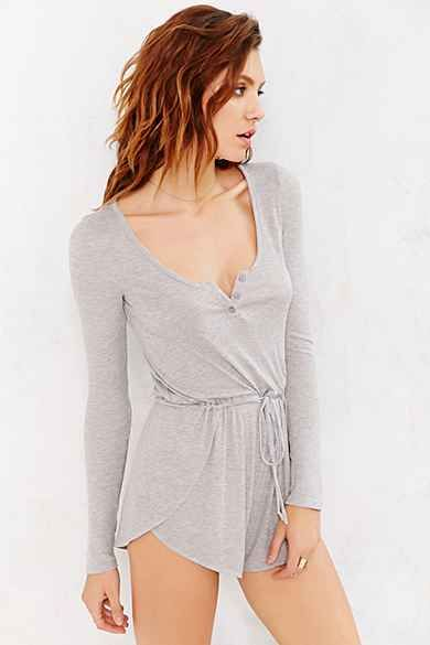 Staring At Stars Henley-Front Romper