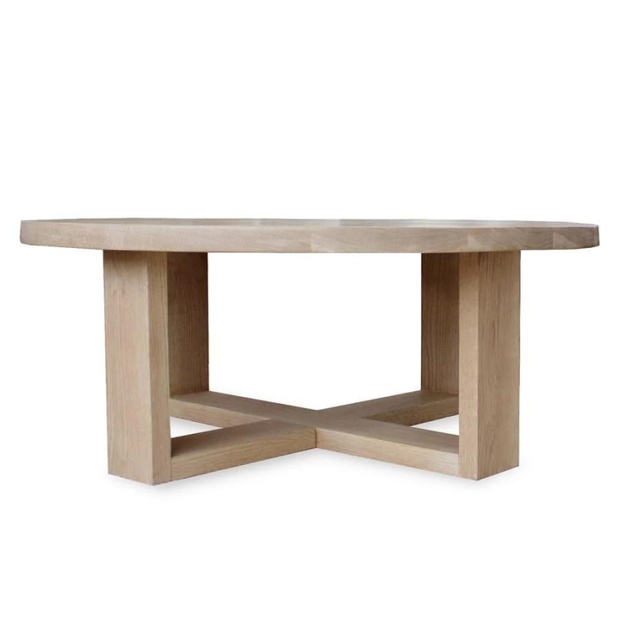 Round Coffee Table Oxelaand White Oak Coffee Table White Oak Coffee Table Scandinavian Coffee Table [ 1365 x 1092 Pixel ]