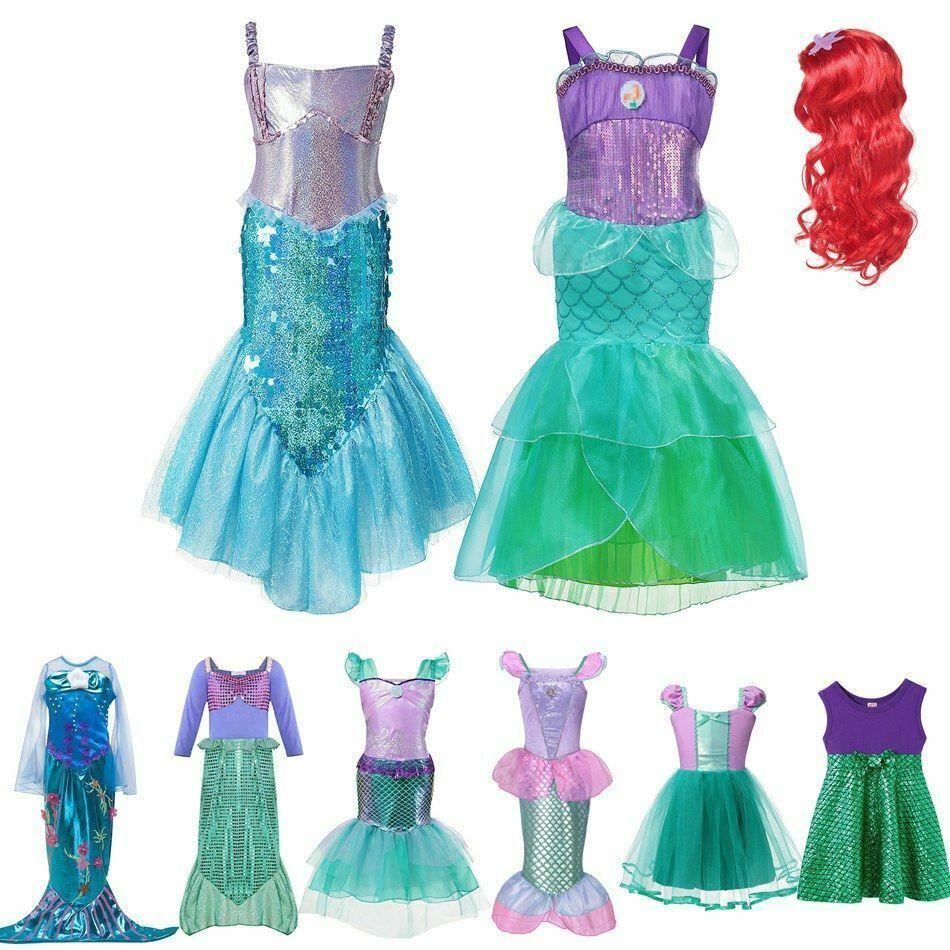 Little Mermaid Ladies Fancy Dress Fairytale Princess Womens Adult Costume Outfit