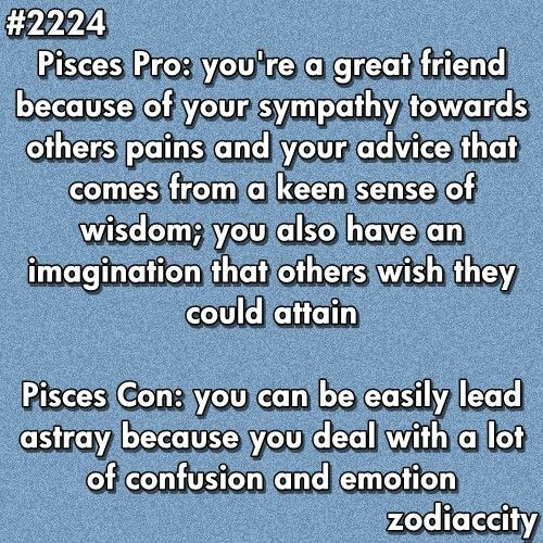 pisces horoscope pros and cons