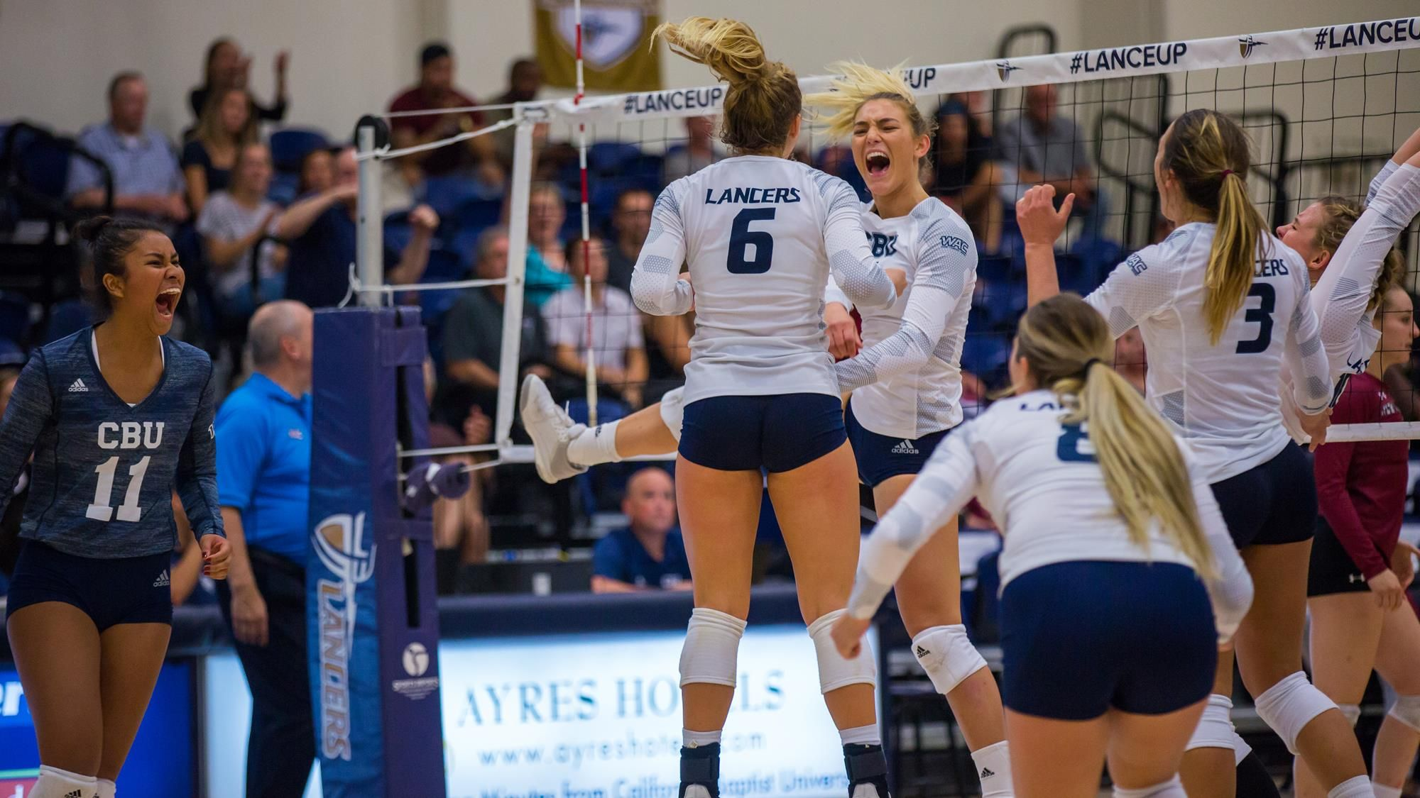 Cbu Takes Down Another Wac Champ In Five Women Volleyball Volleyball Champs