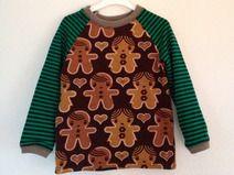 Weihnachts Langarmshirt 86 Lebkuchen Gingerbread
