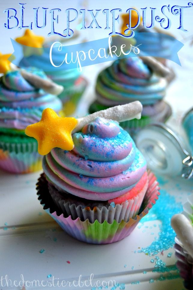 Blue Pixie Dust Cupcakes for Disney's The Pirate Fairy Movie
