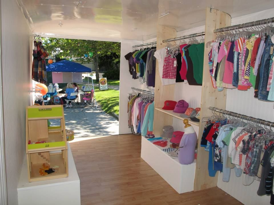 c0aab00c5 Inside the kid's fashion truck! | Store ideas | Mobile boutique ...
