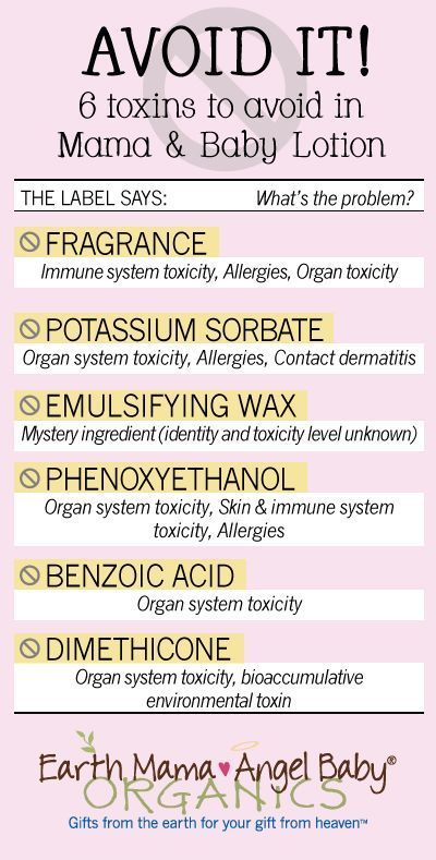 Top 6 Toxic Chemicals to Avoid in Mama and Baby Lotion