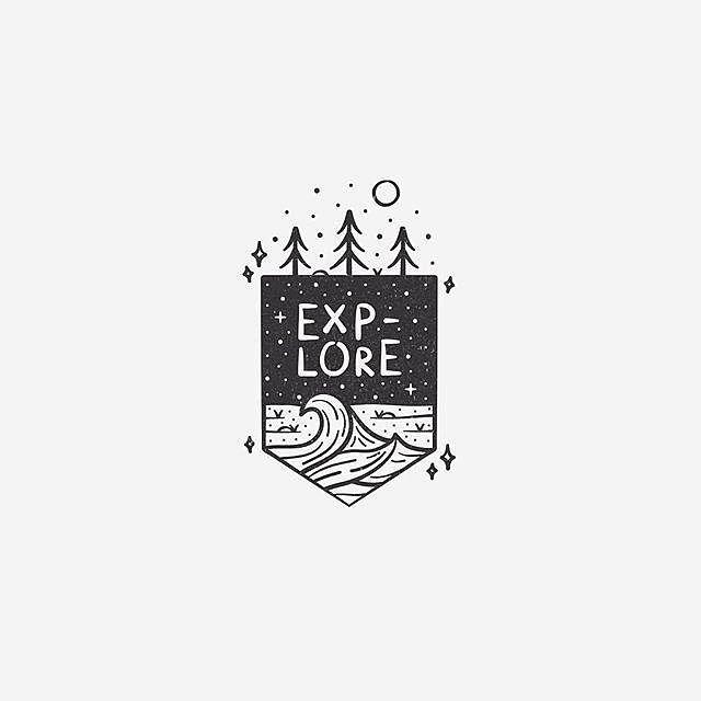 Explore By Elliemdesign Logo Design Inspiration Graphic
