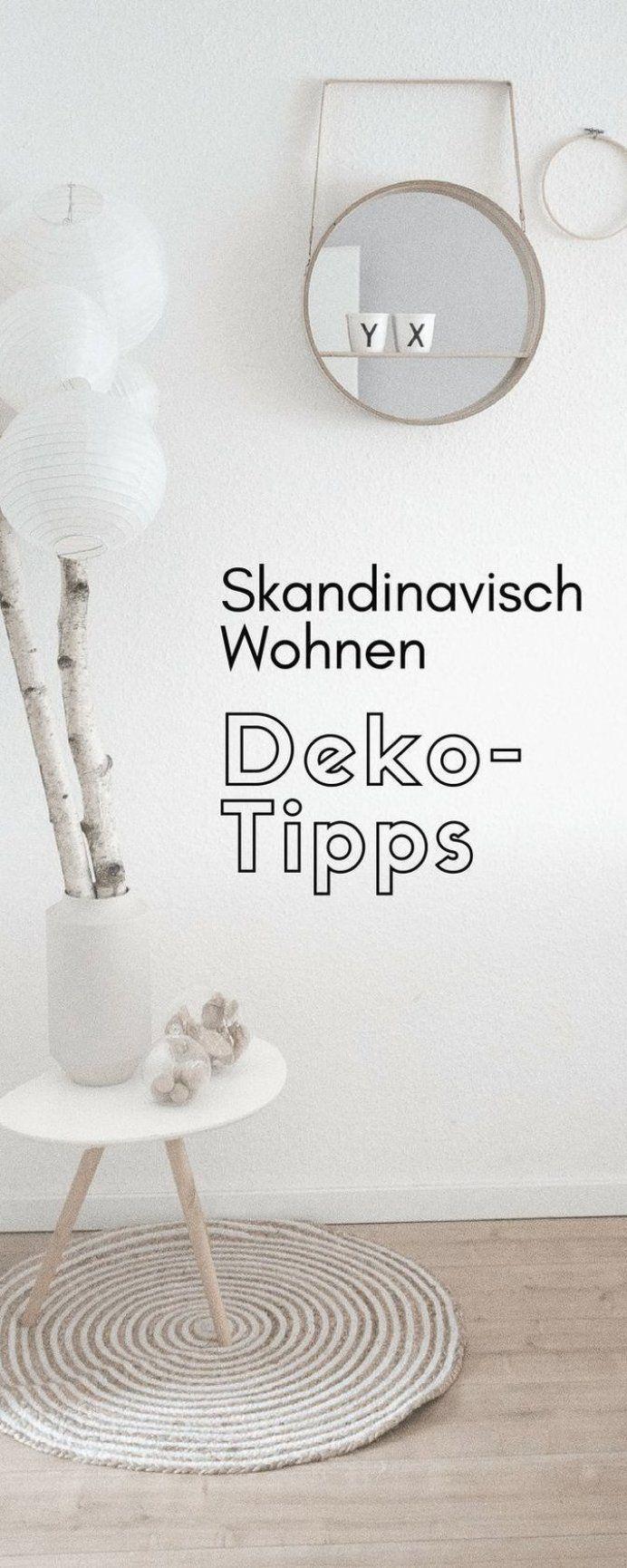 Skandinavisch Wohnen Einrichten im Wohnzimmer mit Deko ...