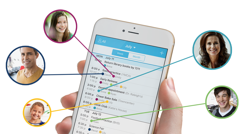 Manage schedules in one location the whole family can see