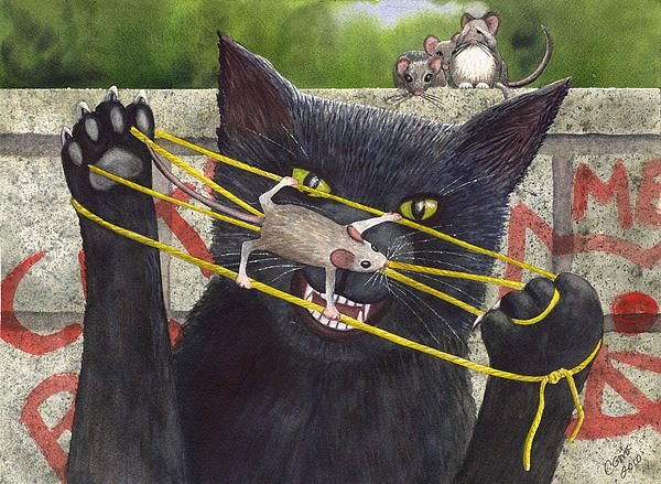 Cats Cradle Painting - I bought the greeting card version of this Catherine McElroy painting because it was so awesome!