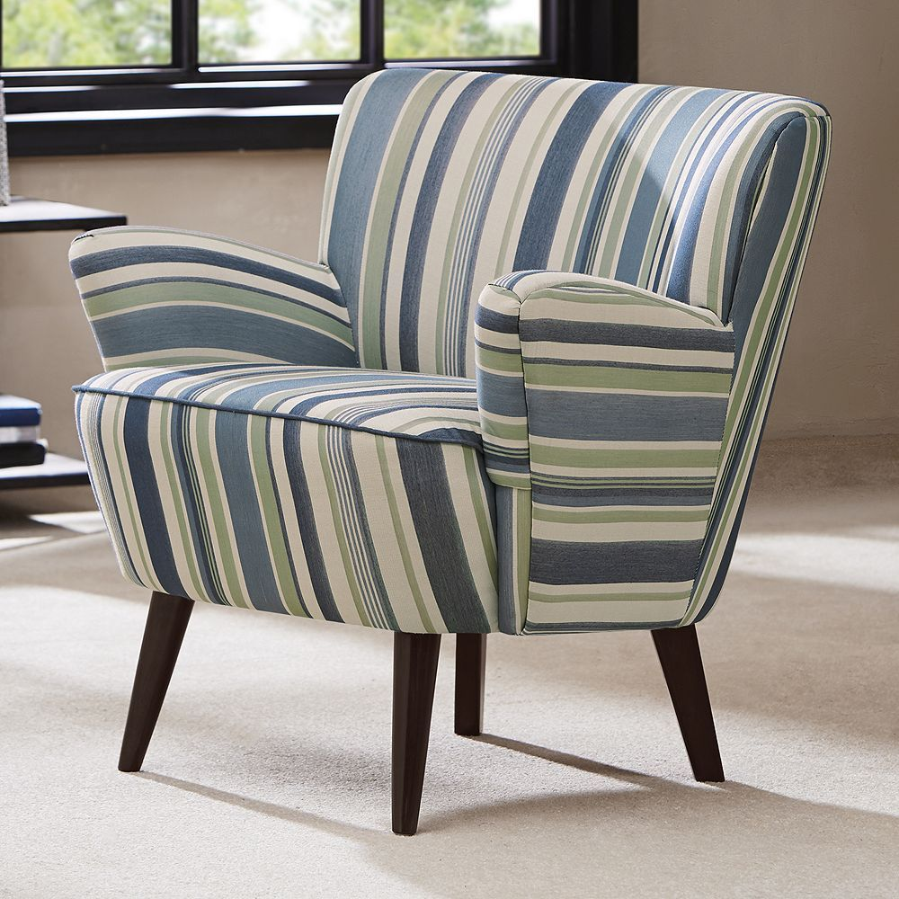 Best Madison Park Lois Chair Blue Mid Century Accent Chair 400 x 300