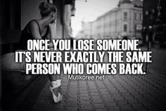 This applies to losing yourself as well...