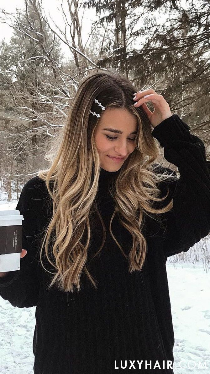 20″ Seamless Chestnut Brown Balayage Clip-Ins – 20″ (180g)