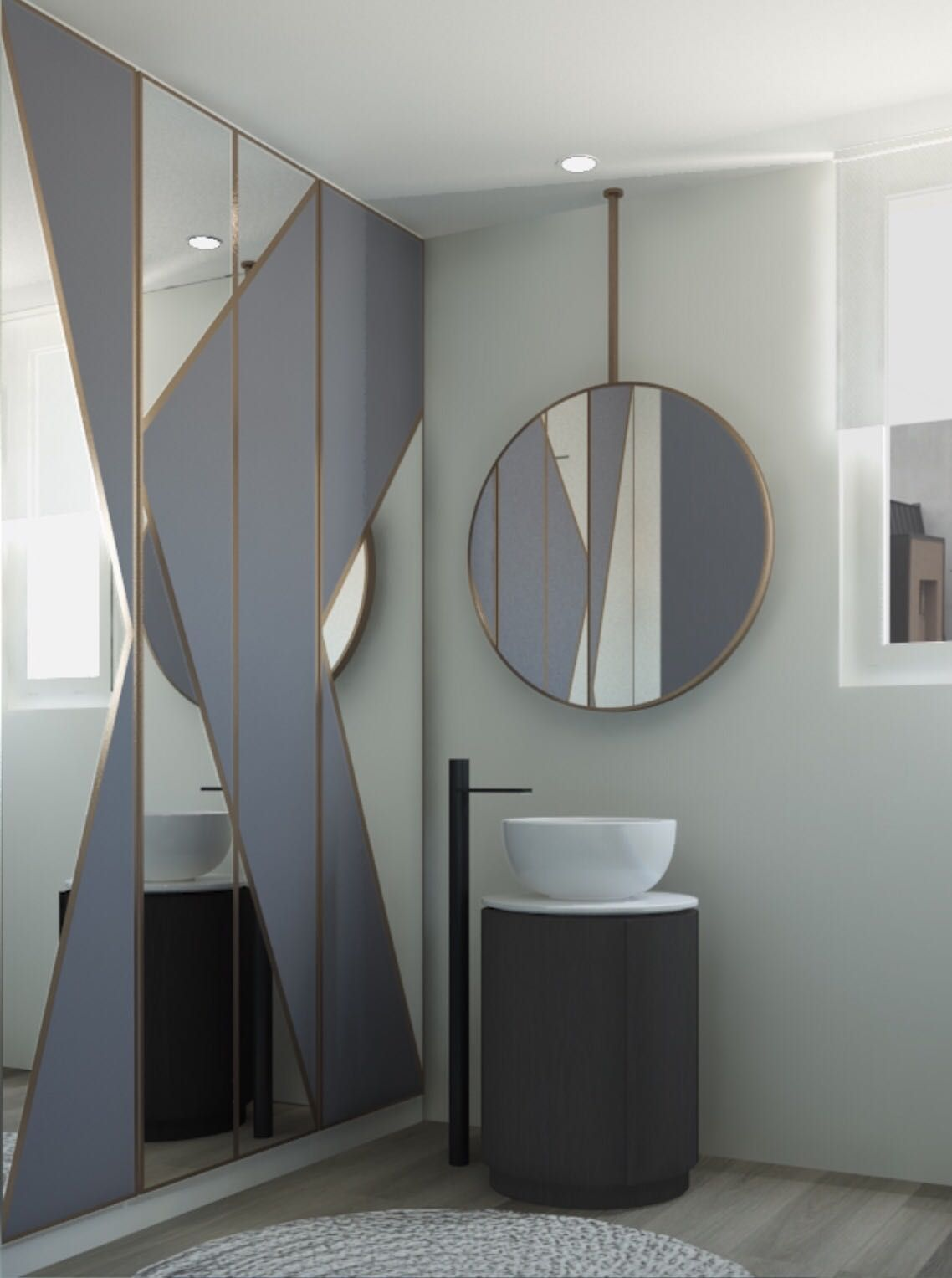 Wcd In De Badkamer Tiberino Washbasin With Mirror Of Arcadia Collection By Cielo