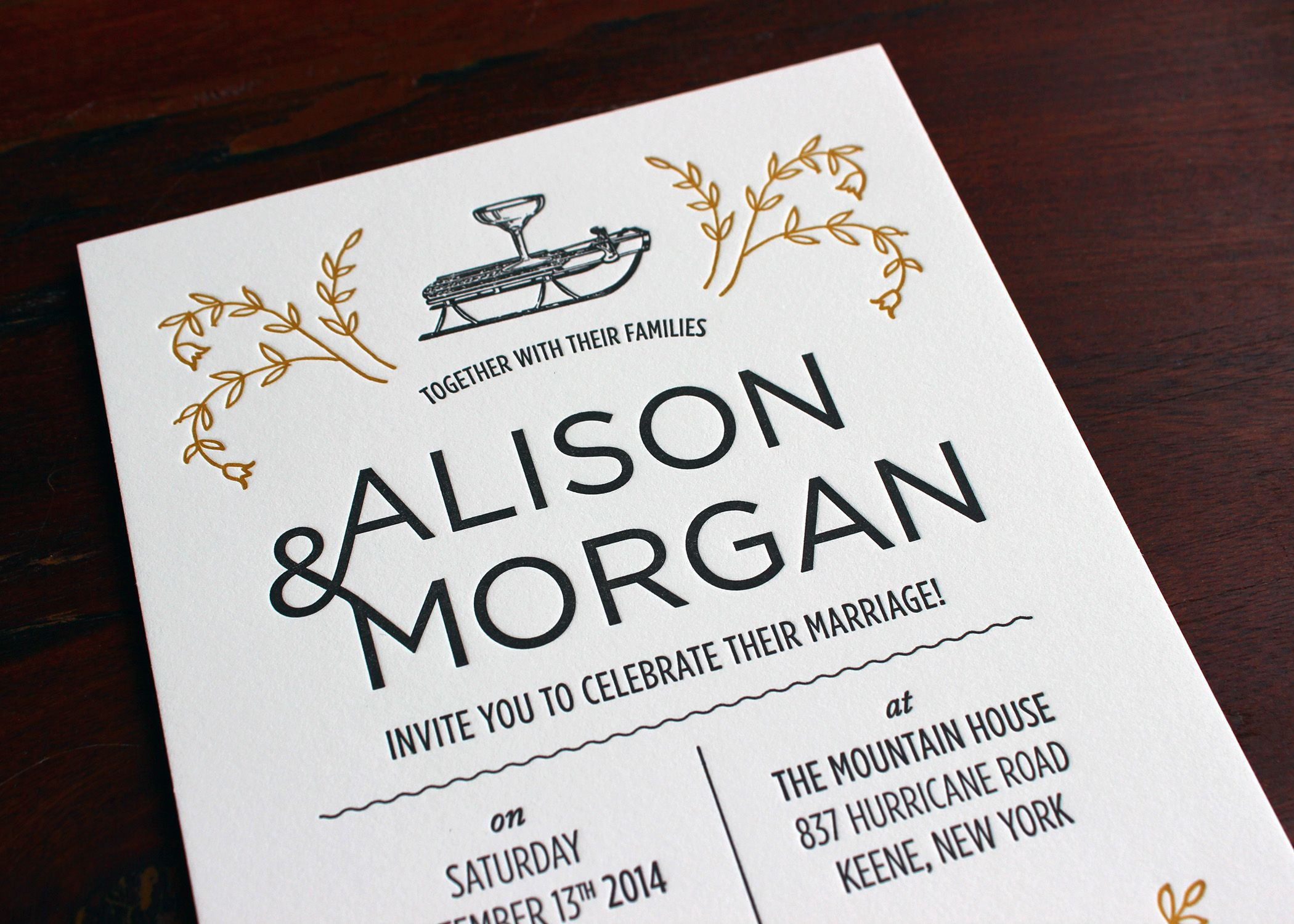 Alison Corrie and Morgan Sheasby designed this invitation together ...