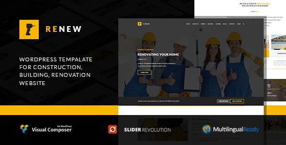GET] Renew - Renovation, Repair & Construction WordPress Theme ...