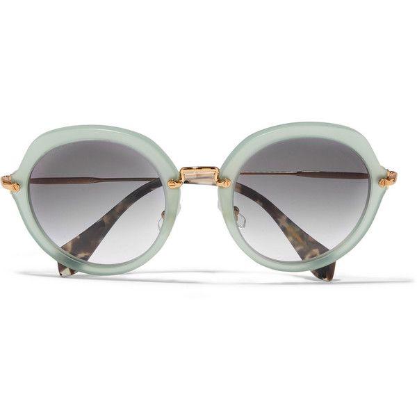 40f513504b64 Miu Miu Round-frame acetate and metal sunglasses (765 BRL) ❤ liked ...