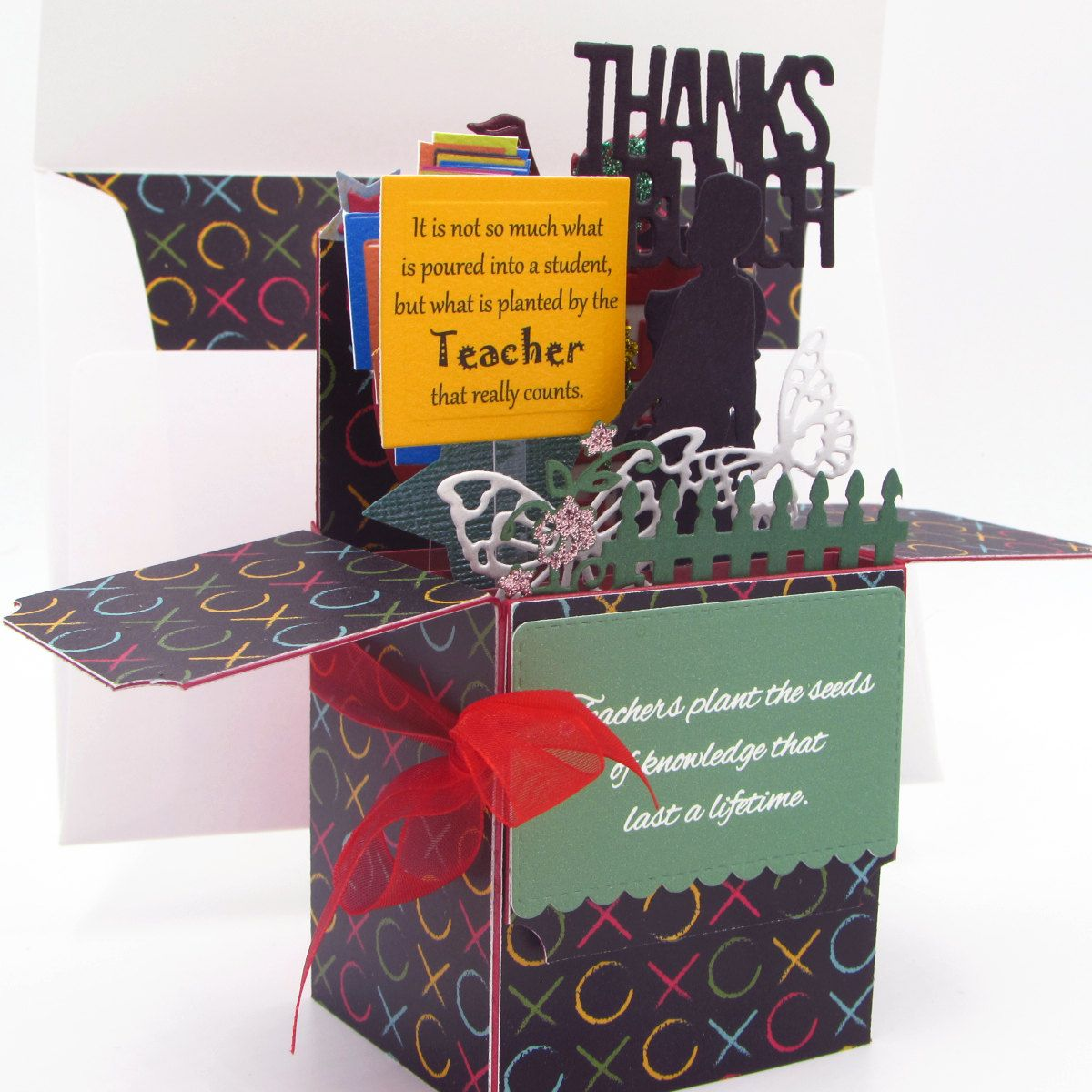Explosion Box Card - Thank You Card In A Box - Card For Teacher ...