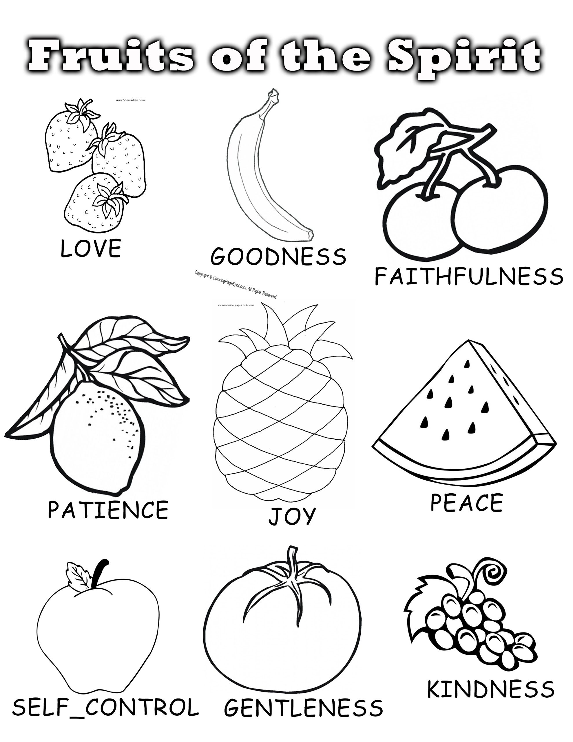 - Fruits Colouring Page.jpg - Google Drive Sunday School Coloring