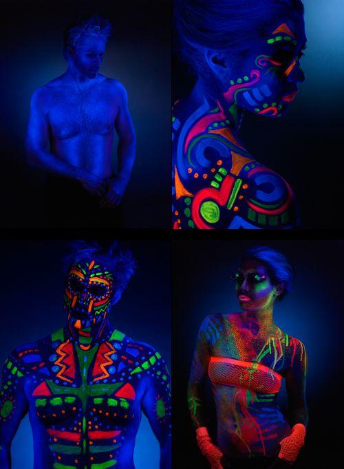 Neon/Fluor Creativo Pinterest Neón, Maquillaje fluor y Arte