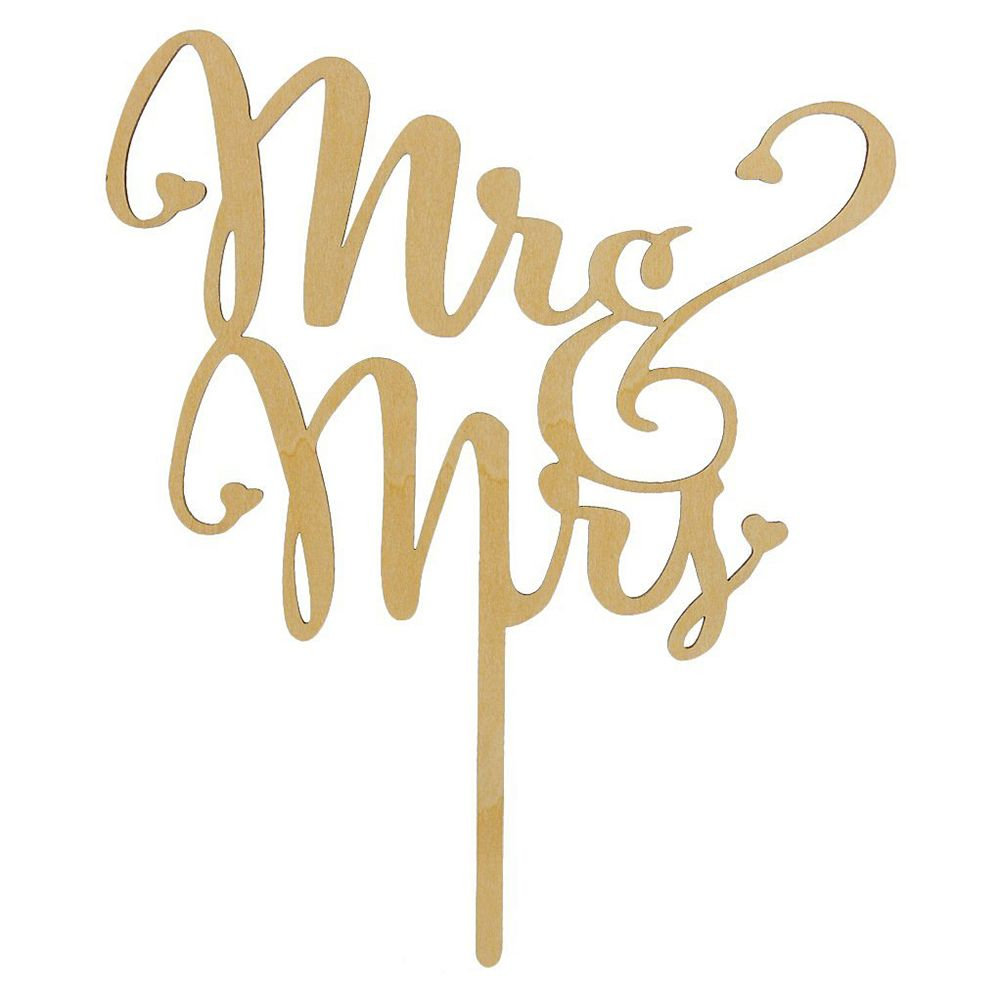 Mrmrs wooden wedding cake topper laser cut wood letters wedding mrmrs wooden wedding cake topper laser cut wood letters wedding cake decorations favors supplies engagement gifts biocorpaavc Images