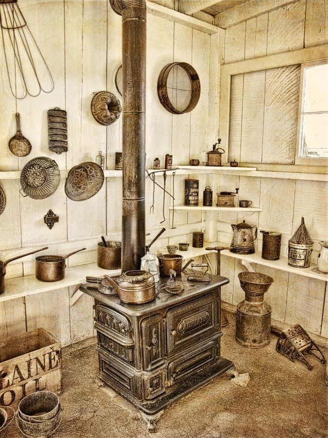 Kitchen From The Late 1800 S Antique Wood Stove Vintage Stoves Primitive Kitchen