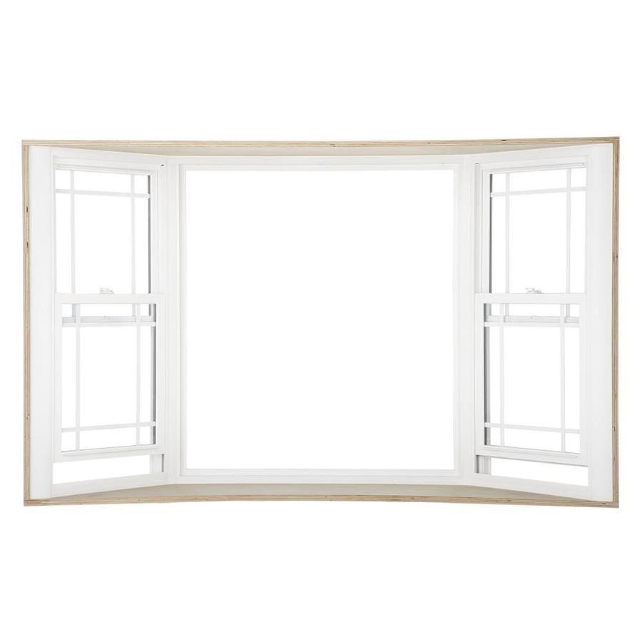 Reliabilt 3500 Double Hung Vinyl Replacement White Bay Window