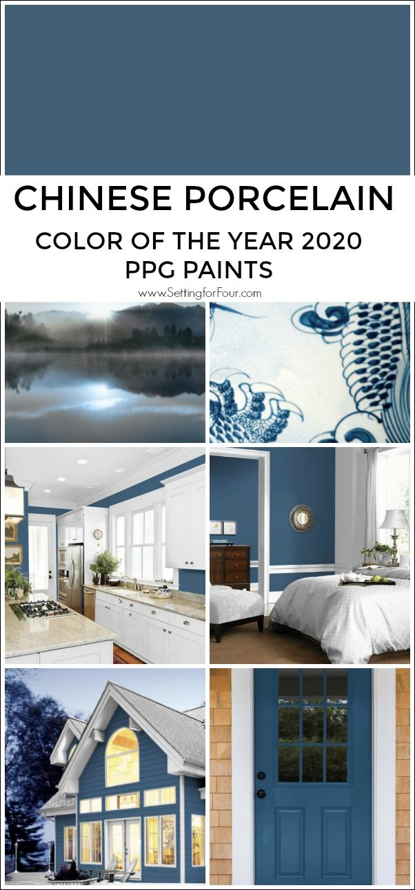 Color of the Year 2020 - Chinese Porcelain Blue by PPG Paints #livingroompaintcolorideas