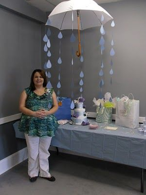 Baby Shower Decorations Love The Umbrella With Rain Drops So Cute