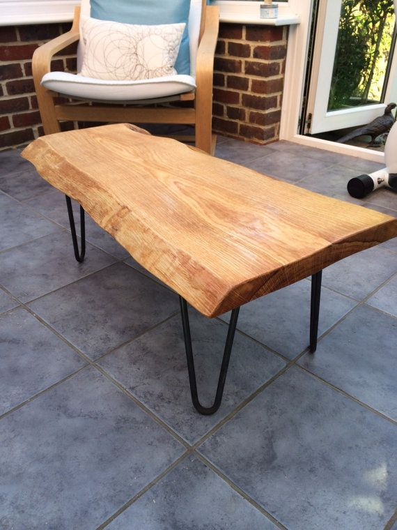Waney Edge Oak Slab Table Tops With Danish Oil Finish Etsy Wood Slab Table Slab Table Oak Coffee Table