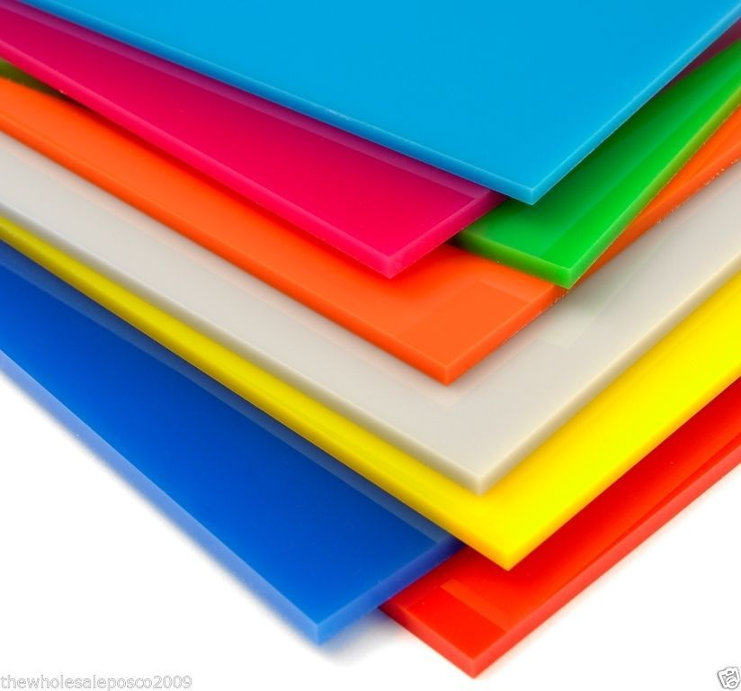 Acrylic Sheet Perspex 24 Colours A5 5mm Red Blue Brown Violet White Green Pink Colored Acrylic Sheets Acrylic Sheets Plastic Sheets