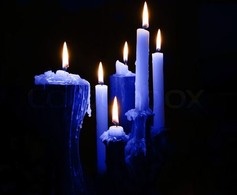candles with black light