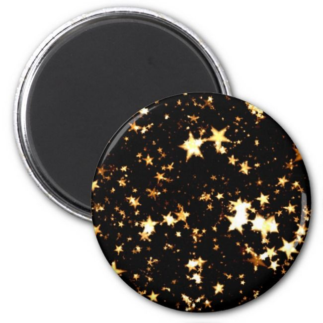 Golden Stars in the Night Christmas style Magnet
