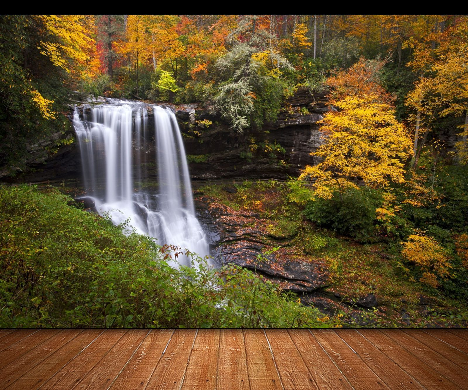 photo wallpaper forest waterfall giant wall decor paper poster for autumn forest waterfall wall mural photo wallpaper giant wall decor poster ebay