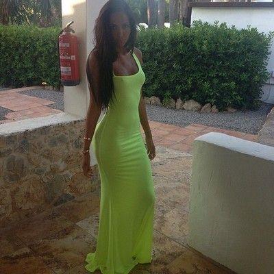 Neon Maxi Dress. | Neonize Life | Pinterest | Neon, Neon maxi ...