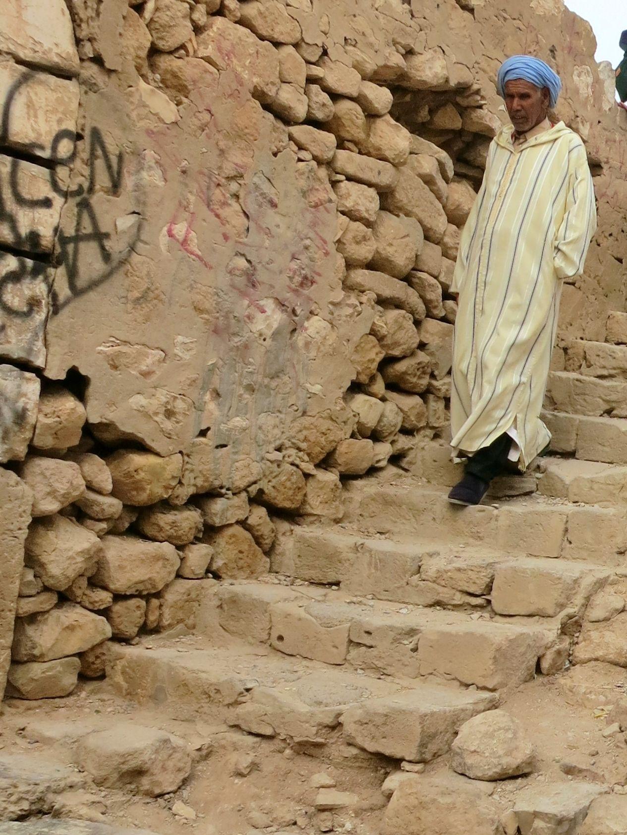 Suuri maanjäristys hajoitti 1960 helmi-maaliskuun vaihteessa vanhan Agadirin, Kaspahin rauniot ovat muistona vanhasta kaupungista,,,