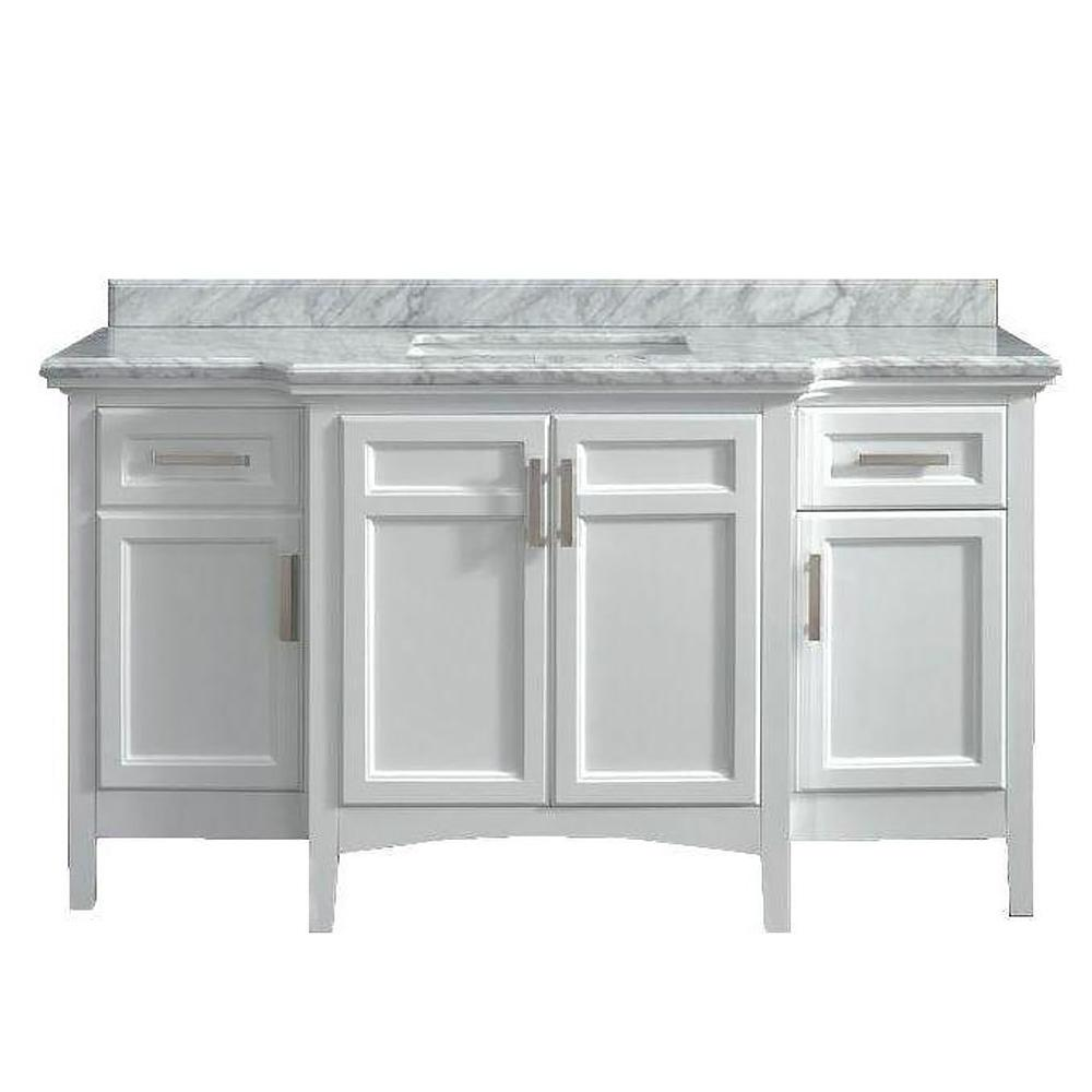Home Decorators Collection Sassy 60 in. Vanity in White with