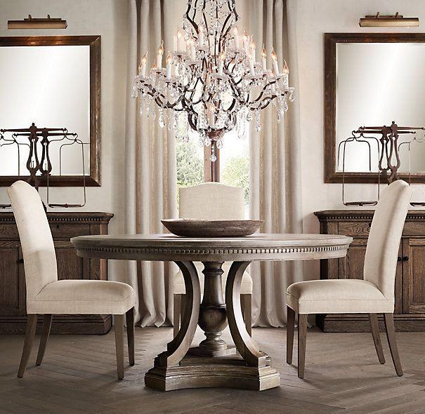 Mesas redondas dise o madera muebles chinos muebles for Disenos de comedores de madera