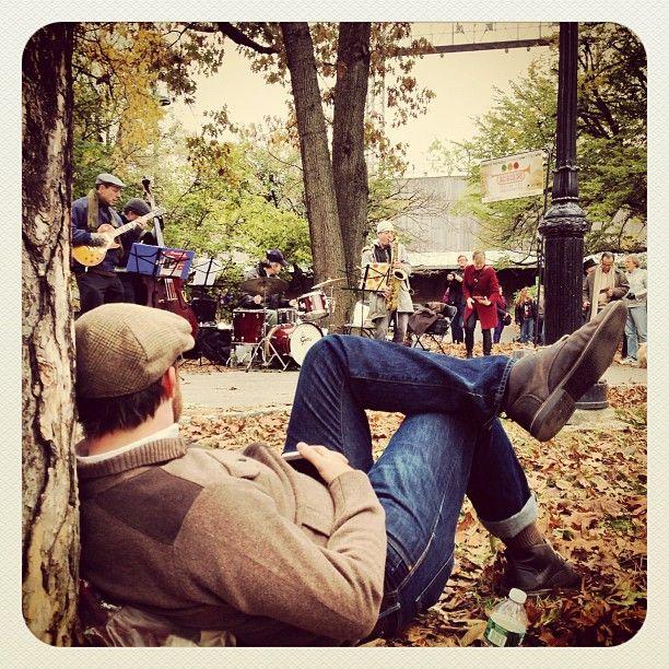 can I kick it? - #jazzandcolors @jazzandcolors #centralpark // Photo by #takinyerphoto from Mobile Media Lab. @Brian DiFeo