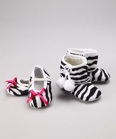 Take a look at this Zebra Bootie #zulily today!