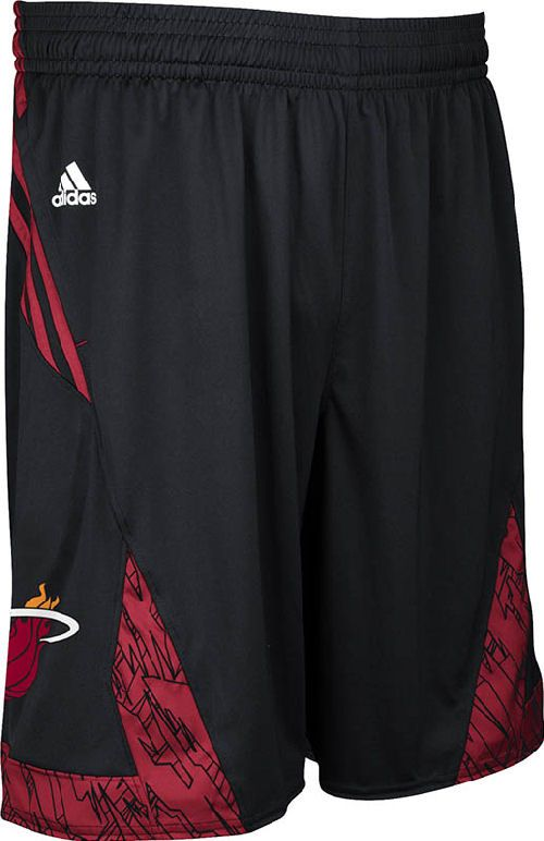 48de22d713fa1 Miami Heat Black NBA Pre-Game Authentic Basketball Shorts by Adidas  49.95