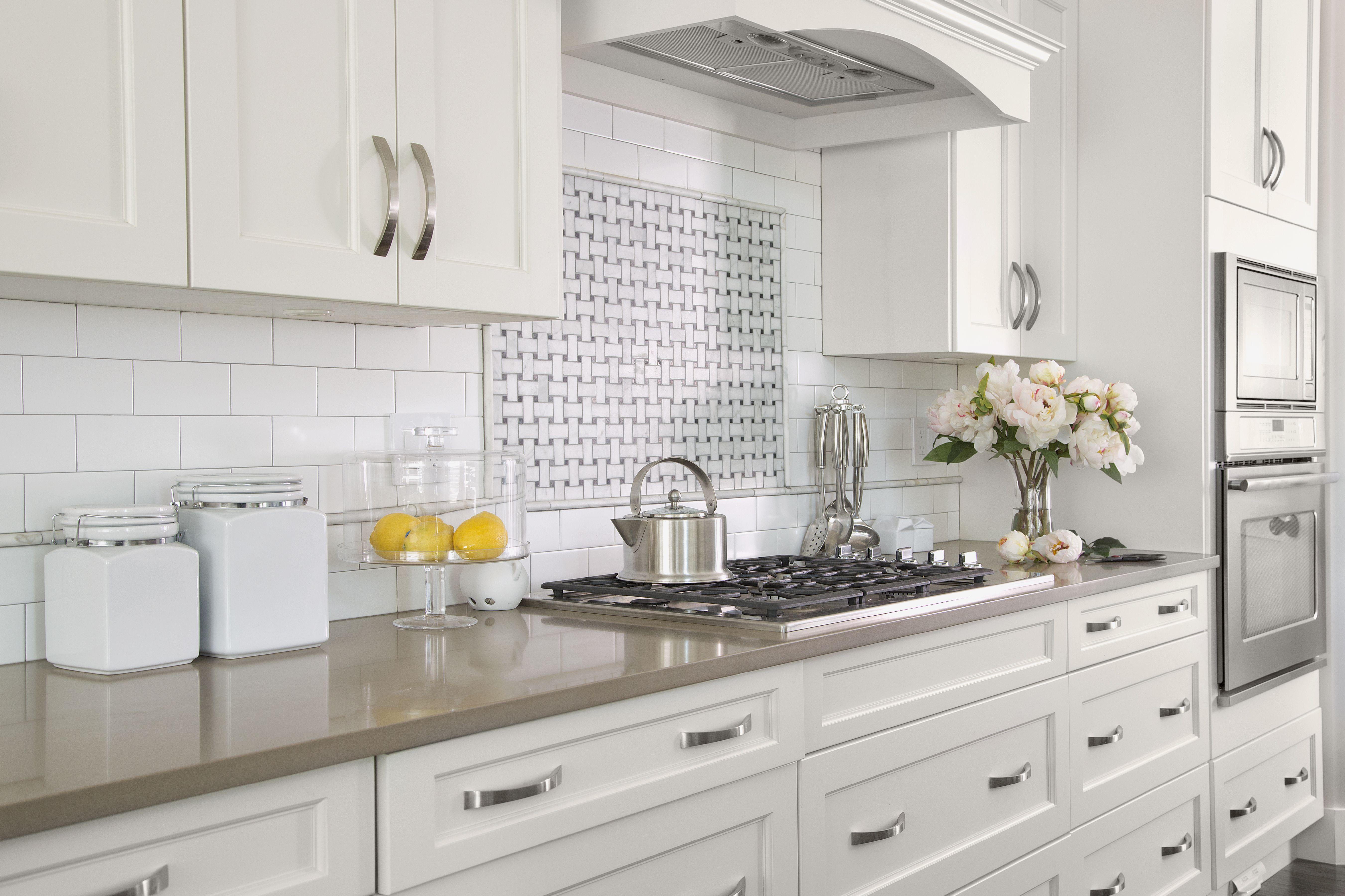Thassos And Jet Black Dot Basketweave Kitchen Cabinet Styles Shaker Style Kitchen Cabinets Rta Kitchen Cabinets